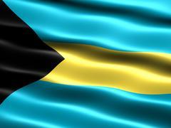 flag of the bahamas - stock illustration