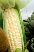 White sweet corn Stock Photos