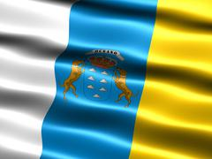 flag of the canary islands - stock illustration