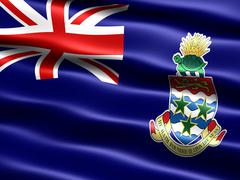 Flag of the Cayman Islands - stock illustration