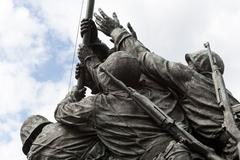 Detail of iwo jima memorial in washington dc Stock Photos
