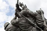 Stock Photo of detail of iwo jima memorial in washington dc