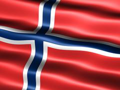 Flag of norway Stock Illustration