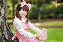 Sweet japanese woman Stock Photos
