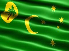 Flag of cocos islands Stock Illustration