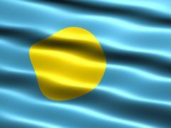flag of palau - stock illustration
