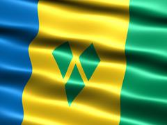 flag of saint vincent and the grenadines - stock illustration