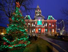 Cambridge ohio christmas lighting Stock Photos