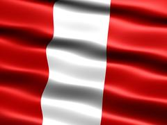 flag of peru, - stock illustration