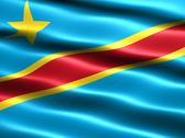 Stock Illustration of flag of the democratic republic of the congo