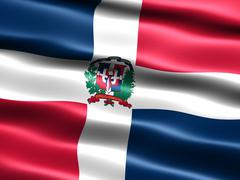 flag of the dominican republic - stock illustration