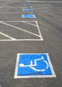 Handicap parking spaces Stock Photos