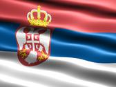 Flag of serbia Stock Illustration