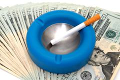 cost of smoking - stock photo