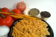 Stock Photo of pasta and spices