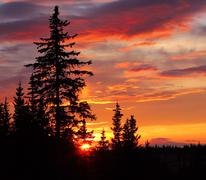 Alaskan sunset Stock Photos