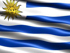 flag of uruguay - stock illustration