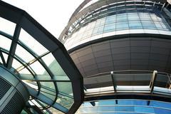 Futuristinen rakennus Kuvituskuvat