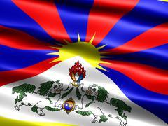 Flag of tibet Stock Illustration