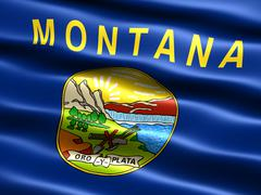 Stock Illustration of flag of the state of montana
