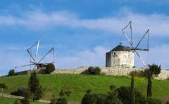 Portuguese Windmills - stock photo