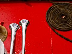 Red Boat Horns Stock Photos