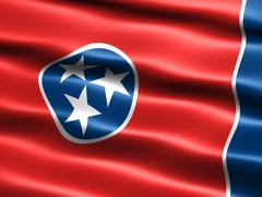 Stock Illustration of flag of the state of tennessee