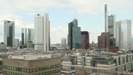 Stock Video Footage of Frankfurt Skyline