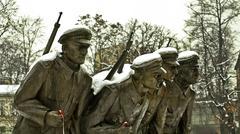 1918 Polish Independence Monument - stock photo