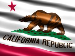 flag of the state of california - stock illustration