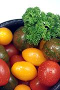 Assorted cherry tomatoes Stock Photos