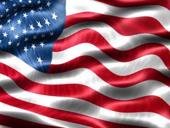 Flag of the united states of america Stock Illustration