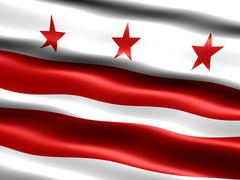 flag of washington d.c. - stock illustration