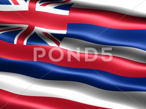 Stock Illustration of flag of the state of hawaii