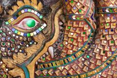 religious asian pattern - stock photo