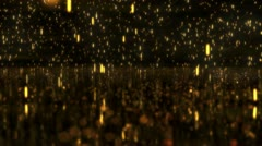 Stock Video Footage of Heavy sparks rain onto water, 1080p loop