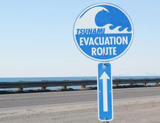 Tsunami evacuation route Stock Photos