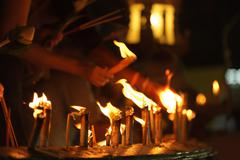 Buddhist candles Stock Photos