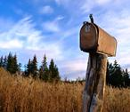 Stock Photo of Rusty rural mailbox