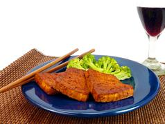 Healthy meal with Tofu Stock Photos