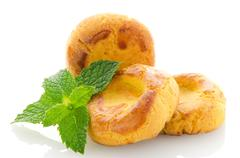 Stock Photo of baked cookies with mint