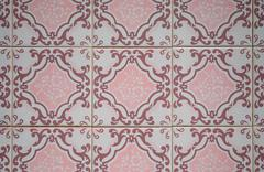 Stock Photo of traditional portuguese glazed tiles