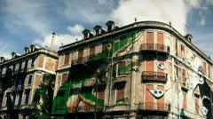 Lisbon buiding graffiti  Stock Footage