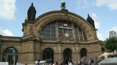Frankfurt Central Station Stock Footage