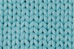 Stock Photo of blue knitted wool