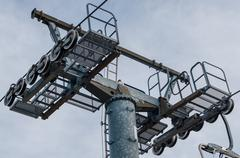 Mast of a chairlift Stock Photos