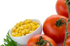 Stock Photo of corn grains on bowl