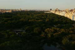 Time lapse movie of central park in new york city as the sun sets Stock Footage