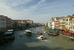 Time lapse movie of boats moving through the grand canal in venice italy Stock Footage