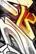 Abstract over old dirty wall, urban hip hop background gray texture painted w Stock Illustration
